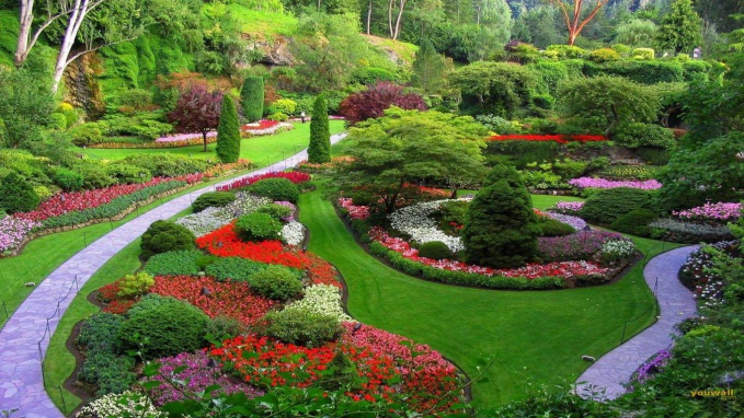 Красивый ландшафтный дизайн, множество работ на портале архидом