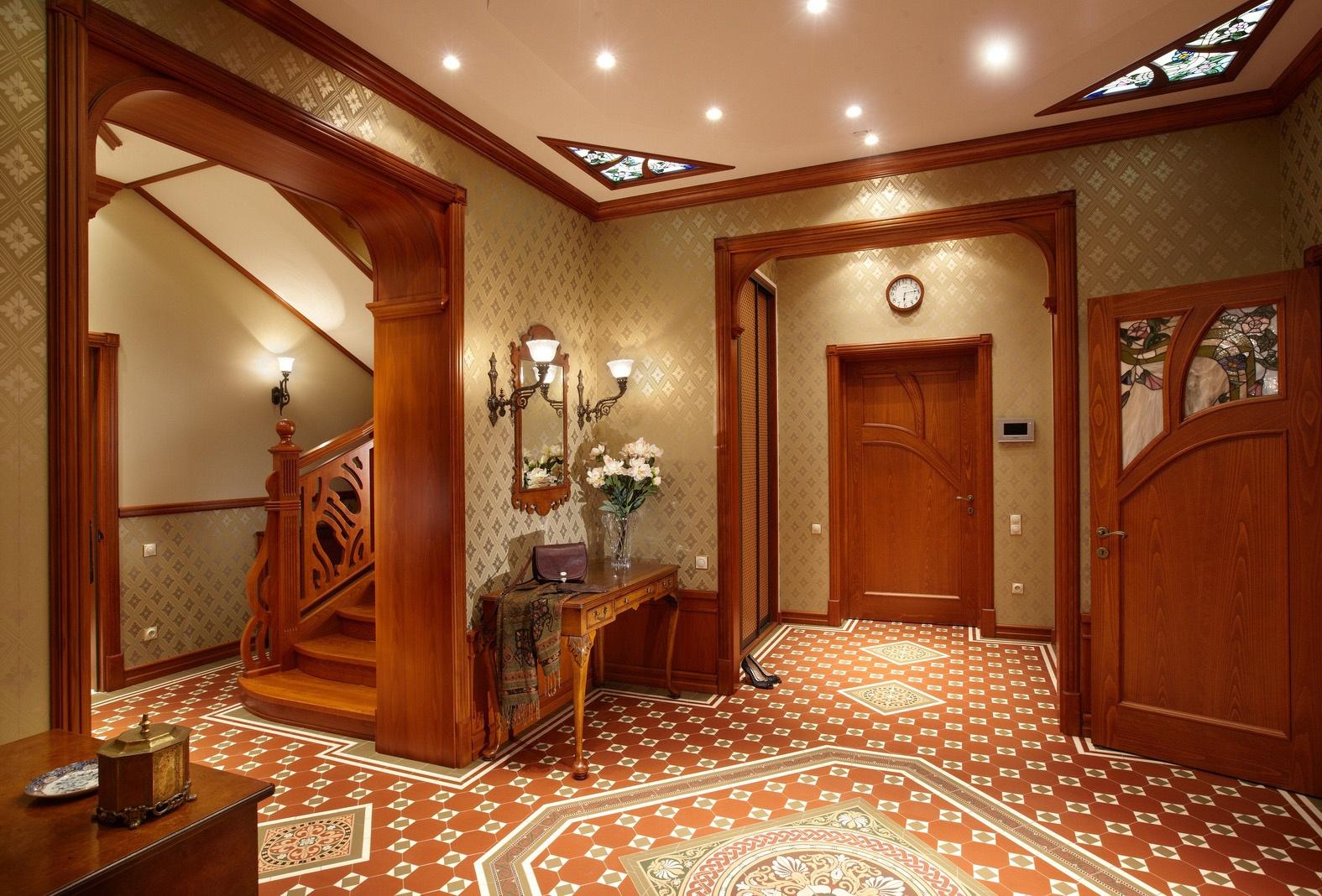 Прихожая в скандинавском или английском стиле: фото коридора.