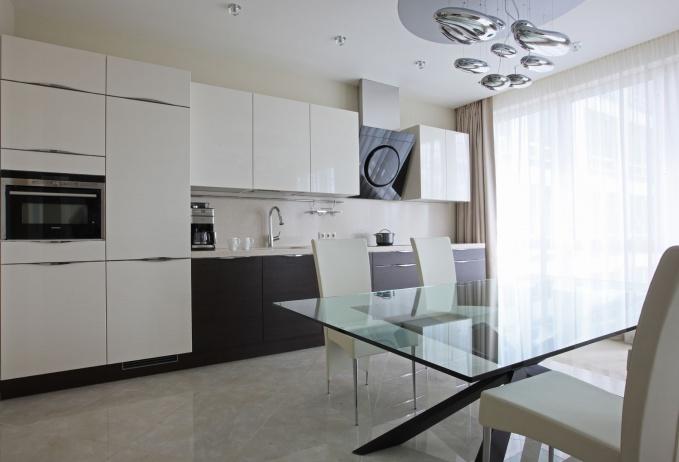 Интерьер кухни минимализм светлые