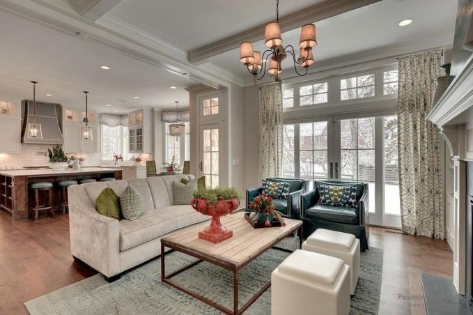 Дизайн гостиной американский стиль