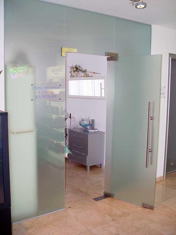 входная дверь со стеклом в салон красоты