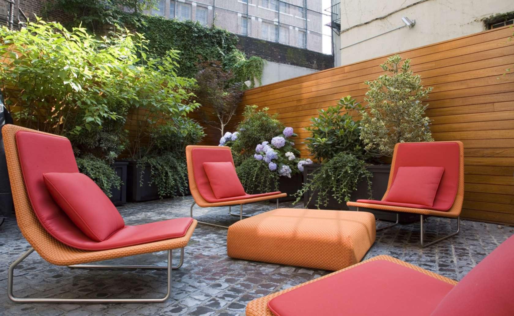 Trendy outdoor furniture.