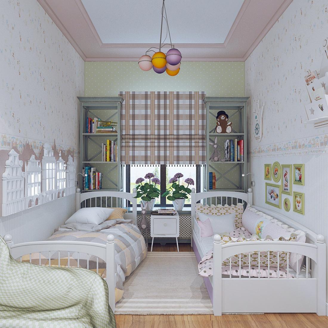 Дизайн детской комнаты для двух разнополых детей 12 фото