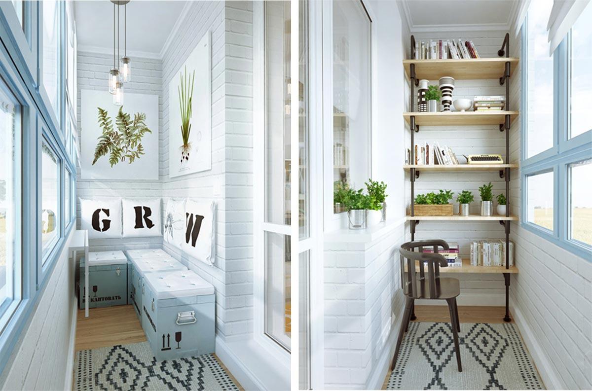 Дизайн маленького балкона 2017 - 37 фото и идей интерьера ло.