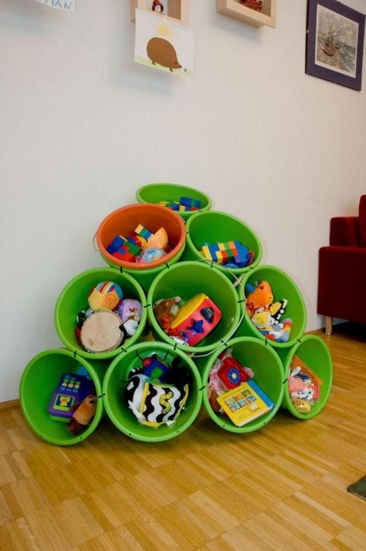 Оригинальные идеи для хранения в детской