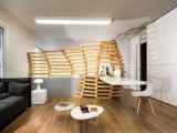 Квартира на стиле минимализм на Париже: стойка как бы идея