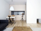 Квартира на стиле минимализм: самурайский проектирование на центре Нью-Йорка